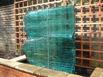 GLASS WALL WATER FEATURE NO.219 UNDATED BY LUCIEN SIMON