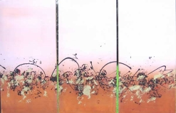 SAND TRIPTYCH NO.442 UNDATED BY LUCIEN SIMON