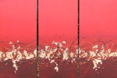 RED DIPTYCH NO.443 UNDATED BY LUCIEN SIMON