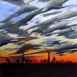 SKYSCAPE NO.558 UNDATED BY LUCIEN SIMON