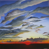 SKYSCAPE I NO.563 UNDATED BY LUCIEN SIMON