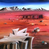 DESERT CRATER NO.592 UNDATED BY LUCIEN SIMON