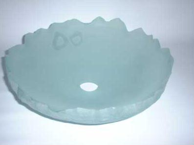 GLASS BOWL NO.189 DATED 2001 BY LUCIEN SIMON