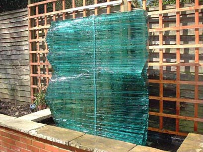 GLASS WALL WATER FEATURE NO.219 DATED 2002 BY LUCIEN SIMON