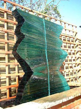 GLASS WALL WATER FEATURE NO.220 DATED 2001 BY LUCIEN SIMON