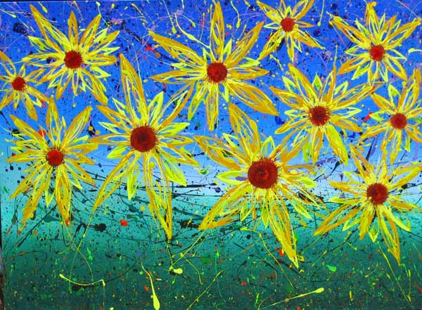 ELEVEN SUNFLOWERS NO.329 DATED 2005 BY LUCIEN SIMON