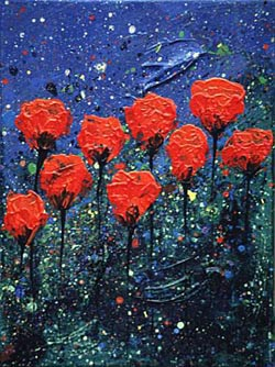 CLOSED POPPIES NO.35 DATED 2000 BY LUCIEN SIMON