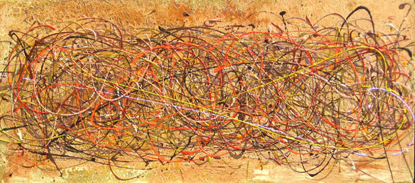 DARK TANGLE NO.472 DATED 2007 BY LUCIEN SIMON