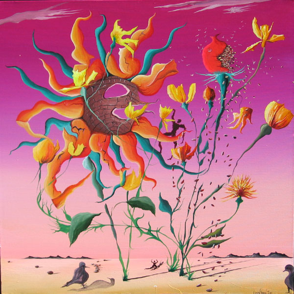 BRIGHT FLOWERS NO.623 DATED 2011 BY LUCIEN SIMON