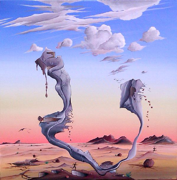 DESERT SCULPTURE NO.635 DATED 2011 BY LUCIEN SIMON