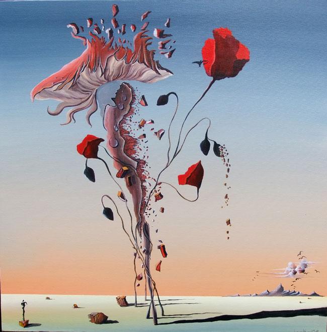 MUSHROOM POPPY NO.814 DATED 2014 BY LUCIEN SIMON