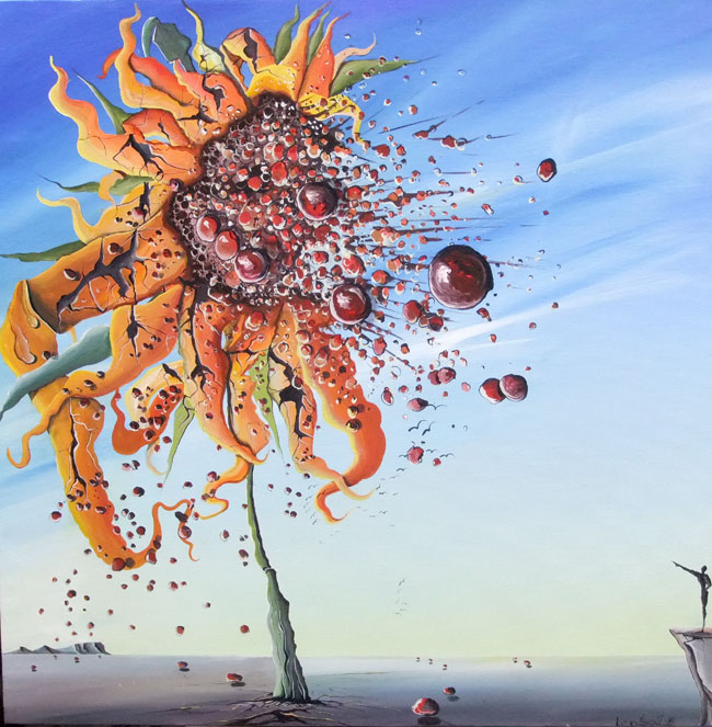 SUNFLOWER BURST NO.870 DATED 2015 BY LUCIEN SIMON