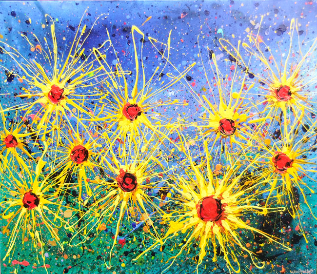 SUNFLOWERS  NO.886 DATED 2015 BY LUCIEN SIMON