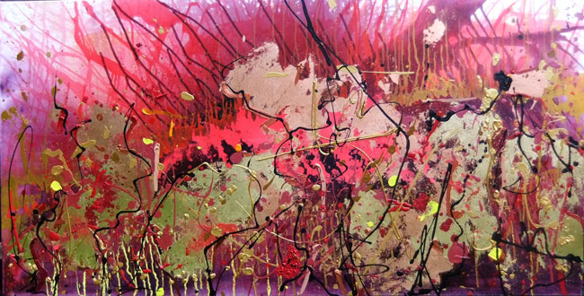 GOLD FLOOD NO.912 DATED 2015 BY LUCIEN SIMON